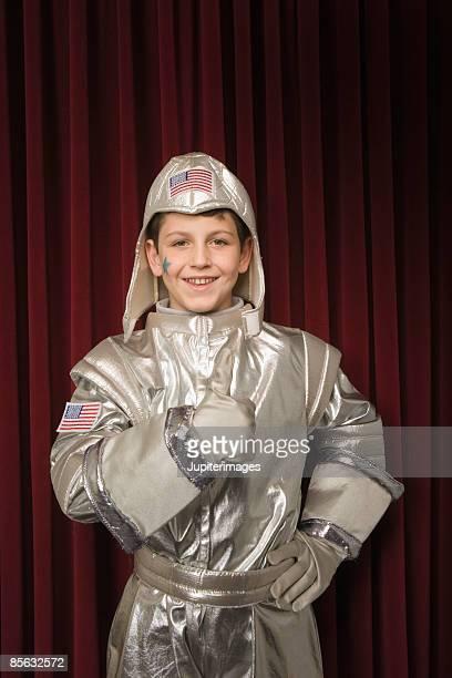 Child in astronaut costume