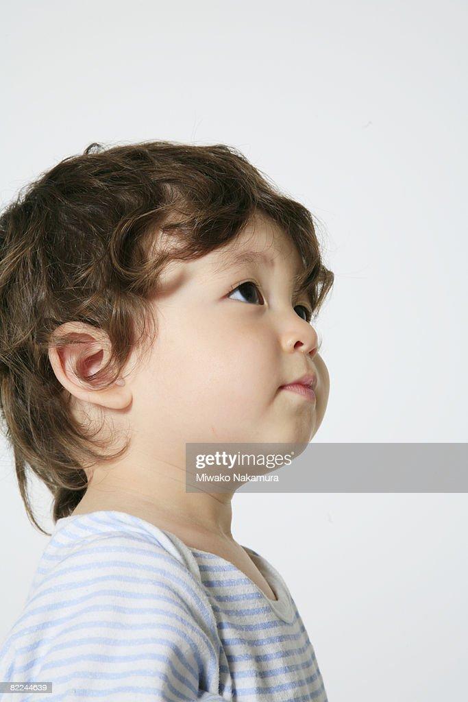 child in the room : Foto de stock