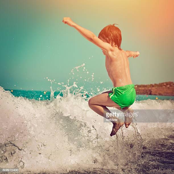 Child in the sea
