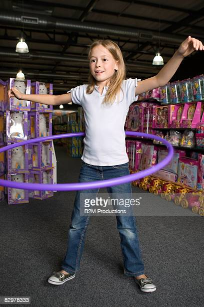 Child (9-11 years) in toy store