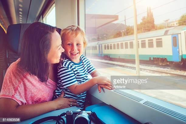 Kind im Zug