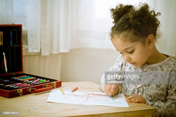 Child is drawing