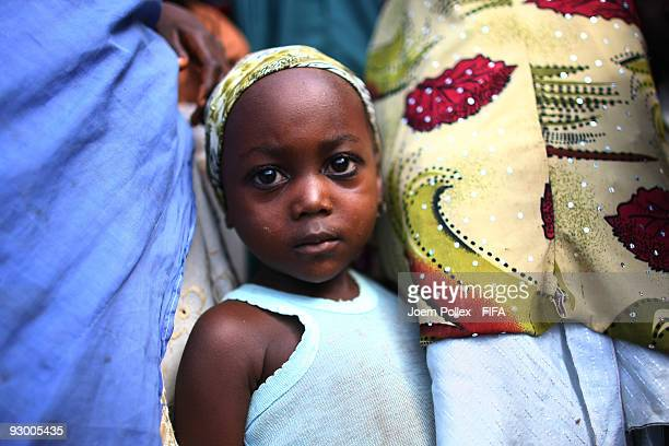 A child is seen with her mother on November 07 2009 in Bauchi Nigeria