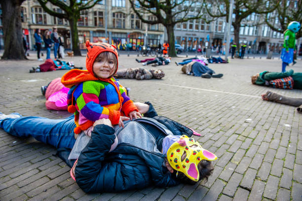 NLD: Penitents Protest Organizes By Extinction Rebellion, In The Hague