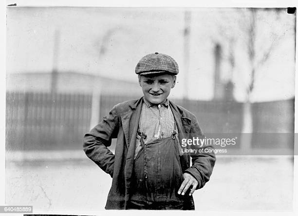 Child laborer at the Singer Manufacturing Company in South Bend Indiana on his way home for lunch | Location Singer Manufacturing Company South Bend...