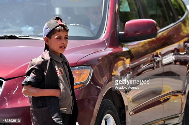 Child labors work on the streets due to poverty in Sanaa Yemen regarded the most poor country in Arabian Peninsula on 20 April 2014 Child labors sell...