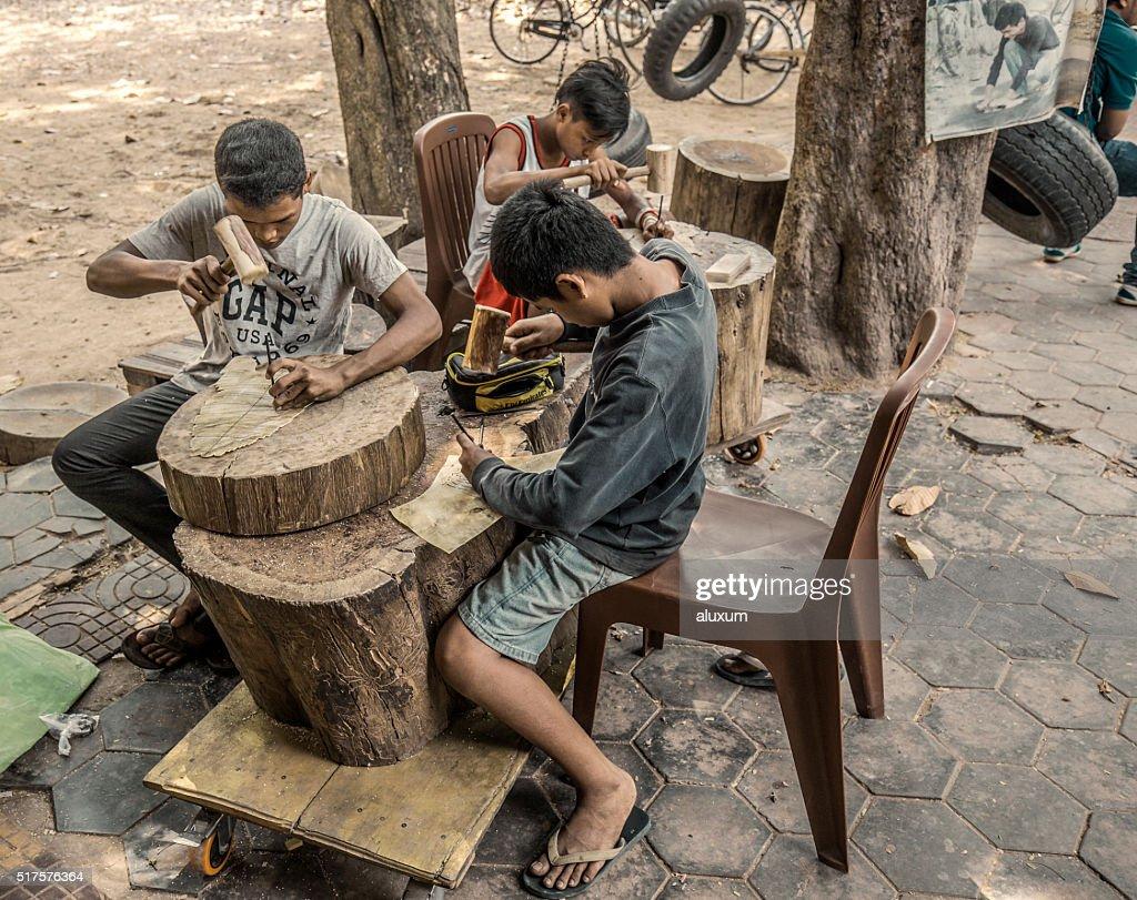 Child labour Cambodia : Stock Photo