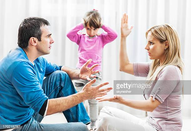 Child listening to their parents fighting