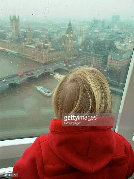 Child looking over London