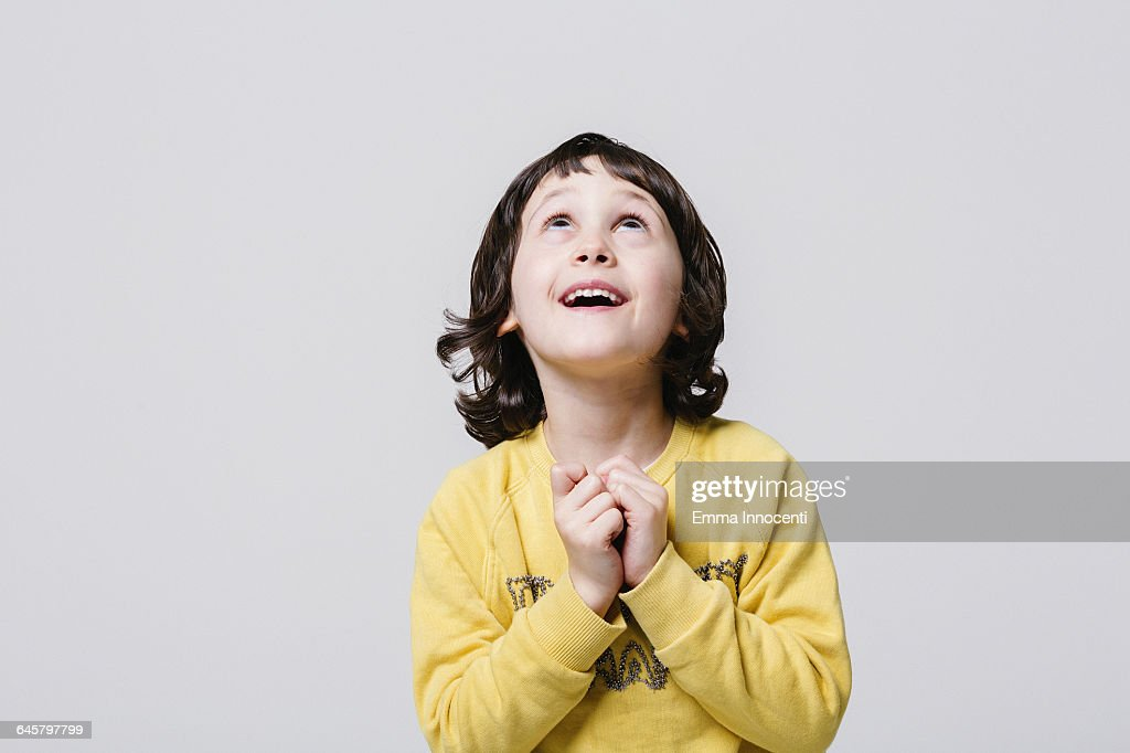 In Owe child looking up in awe stock photo getty images