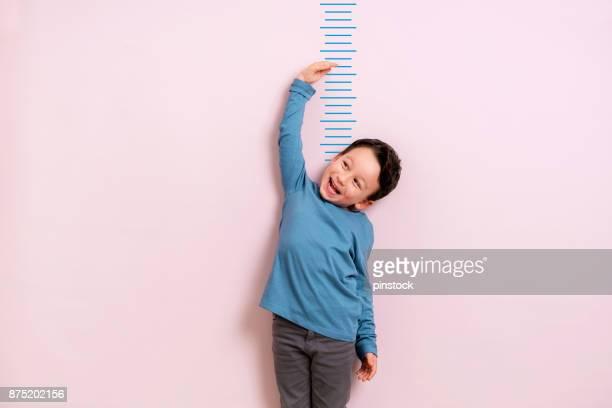 彼の高さを測定子