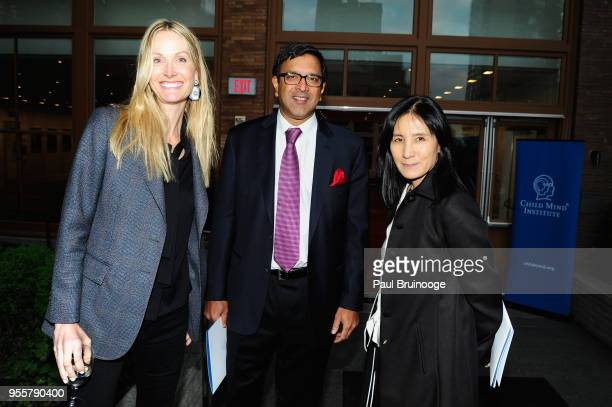 Child Mind Institute Board Members Christine Mack Ram Sundaram and Julie Minskoff attend the 2018 Change Maker Awards at Carnegie Hall on May 7 2018...