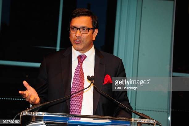 Child Mind Institute Board of Directors CoChair Ram Sundaram speaks onstage during the 2018 Change Maker Awards at Carnegie Hall on May 7 2018 in New...