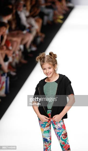 A child model walks the runway at the Maisonnoee show during the Berlin Fashion Week Spring/Summer 2019 at ewerk on July 3 2018 in Berlin Germany