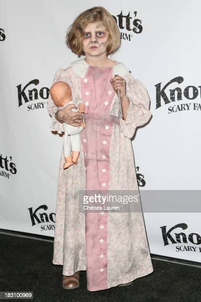 A child monster attends the Knott's Scary Farm 'Haunt' VIP Opening Night Party at Knott's Berry Farm on October 3 2013 in Buena Park California