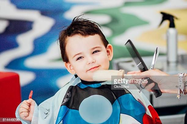Child on a hairdressing
