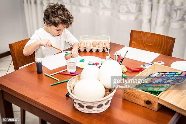 Kind Farben Ostern Eier