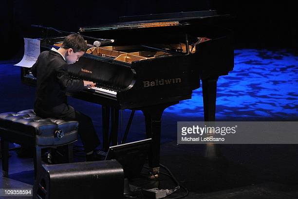 Child pianist Ethan Bortnick performs at Best Buy Theater on February 22 2011 in New York City