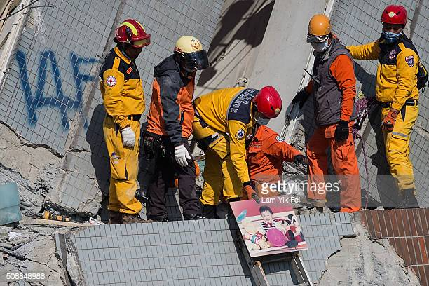 A child picture found from a collapsed building on February 7 2016 in Tainan Taiwan A magnitude 64 earthquake hit southern Taiwan early Saturday...