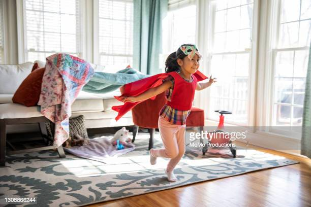 child playing in homemade costume - education stock pictures, royalty-free photos & images