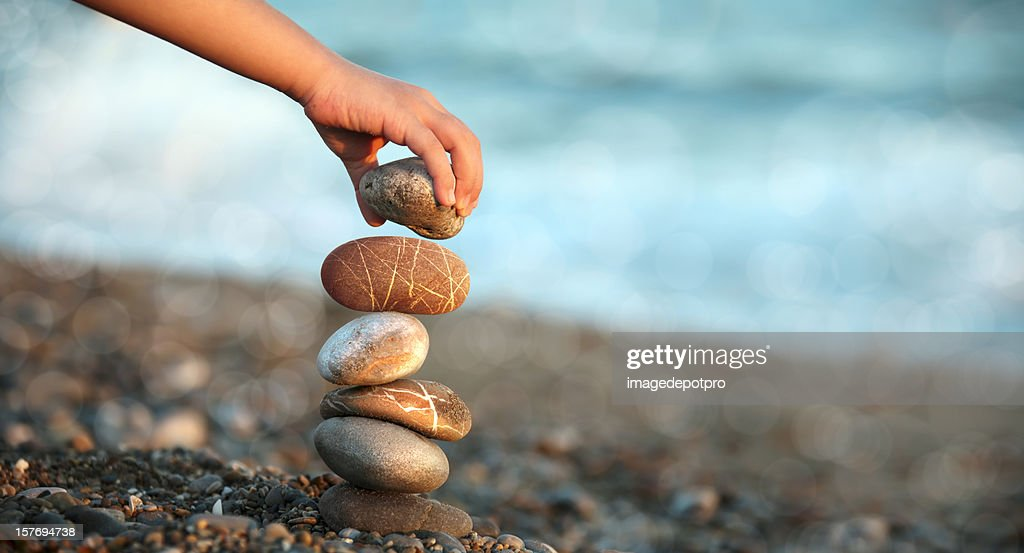 child playing on beach : Stock Photo