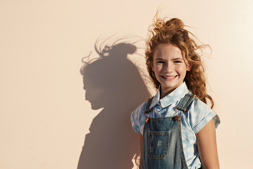 child portrait on studio background - gettyimageskorea