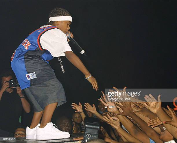 Child rapper Lil'' Bow Wow performs in concert June 9 2001 at the Hammerstein Ballroom in New York City