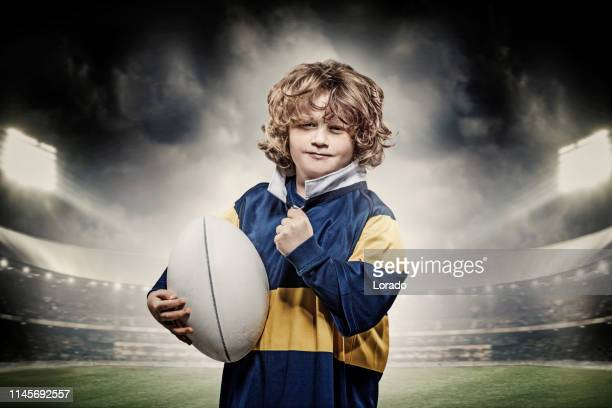 a child rugby player - rugby league stock pictures, royalty-free photos & images