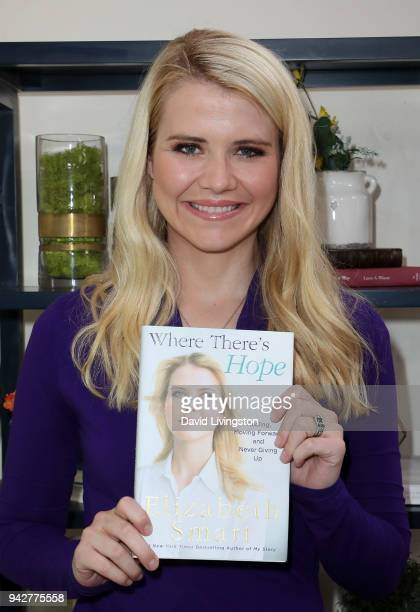 Child safety activist Elizabeth Smart visits Hallmark's Home Family at Universal Studios Hollywood on April 6 2018 in Universal City California