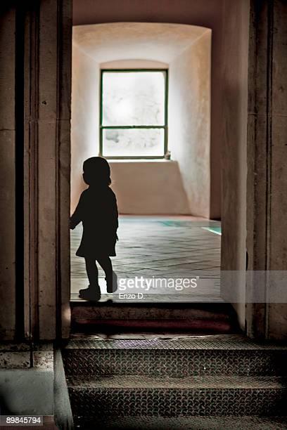 A child silhouette