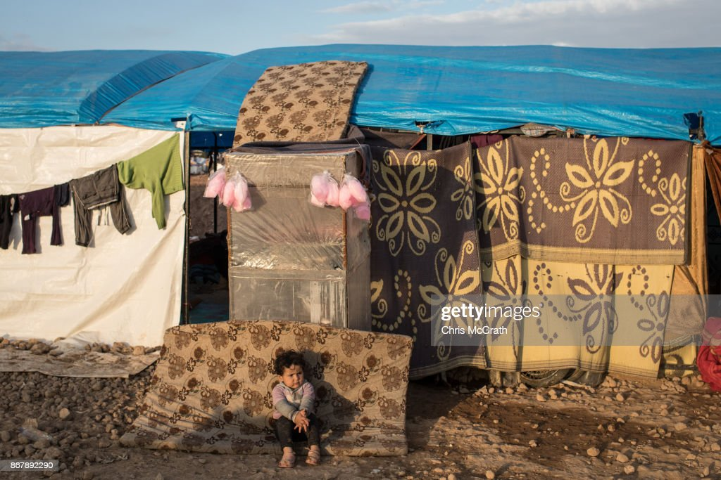 Civilians Continue To Arrive At IDP Camps After Liberation Of Raqqa : News Photo