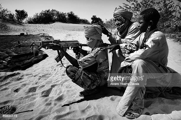 Child soldier members of the SLA guerrillas one of the rebel groups fighting against the Sudanese goverment in Khartoum