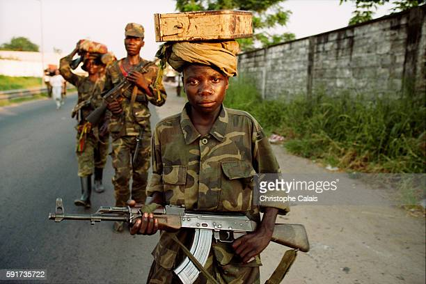 Child soldiers fight for LaurentDesire Kabila's Alliance at the time of the fall of Kinshasa in May 1997 The Alliance soldiers took Zaire in a...