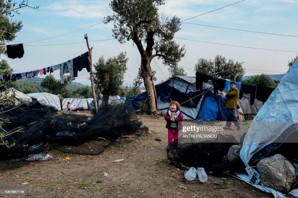 TOPSHOT-GREECE-EUROPE-MIGRATION : News Photo