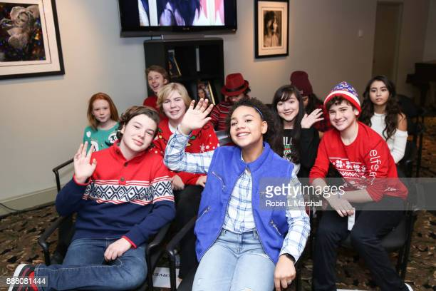 Child Stars Landon Gimenez Jillian Estell Jax MalcolmConnor Dean and more attend the Holiday Tour of the Hollywood Museum at The Hollywood Museum on...