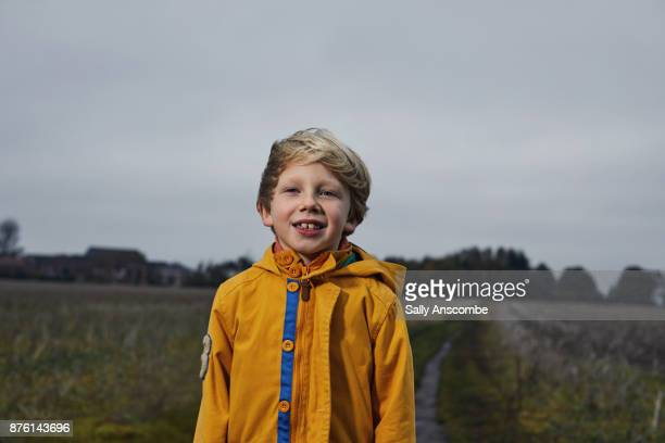 Child stood in a field