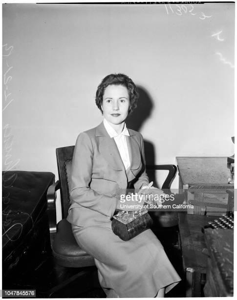 "Child support 21 December 1954 Joyce AhrensCaption slip reads ""Photographer Mitchell Date Reporter Simmons Assignment Child support 3/4 Joyce Ahrens"""