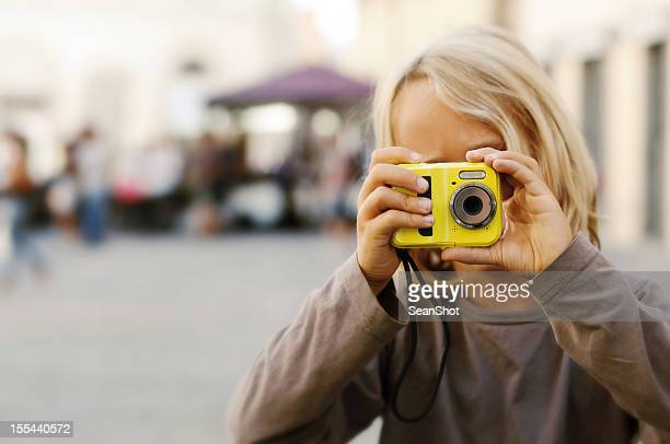 Child Taking a Picture