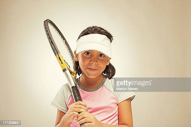child tennis player
