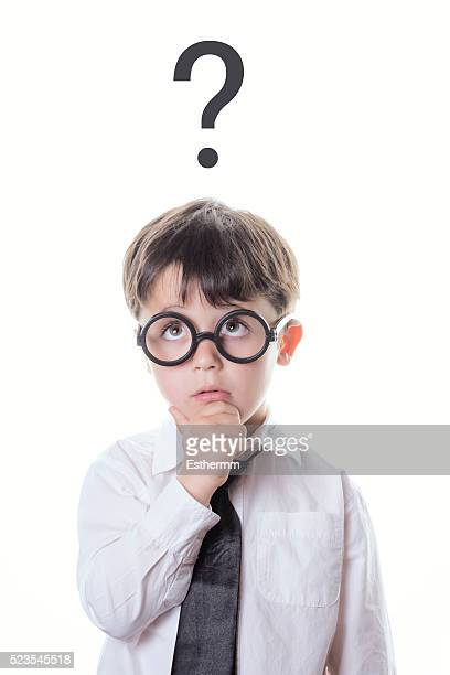 child trying to answer a question - people with both male and female organs stock photos and pictures