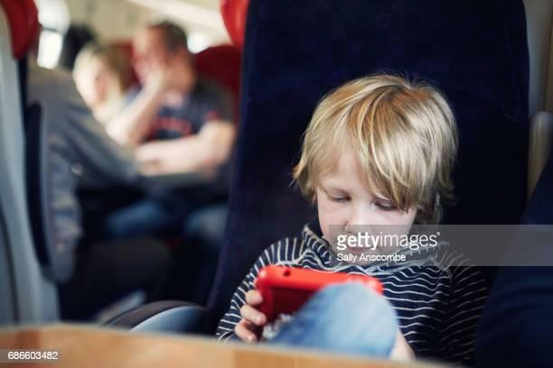 Child using a digital tablet
