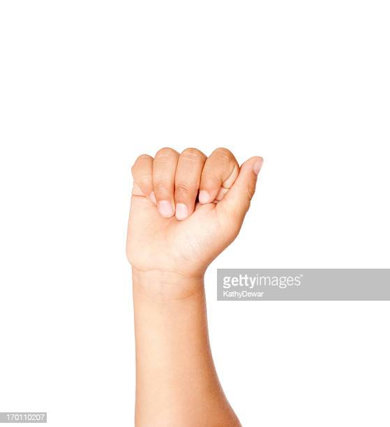 child using american sign language letter a - letter a stock pictures, royalty-free photos & images