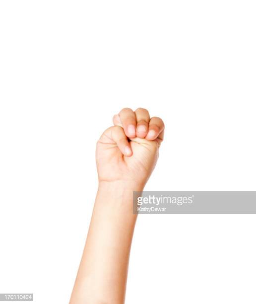 Child Using American Sign Language Letter M