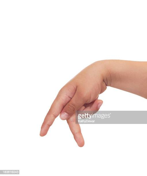 child using american sign language letter p - letter p stock pictures, royalty-free photos & images