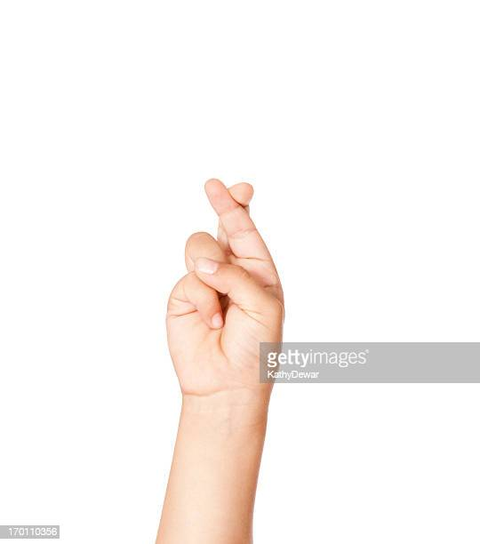 child using american sign language letter r