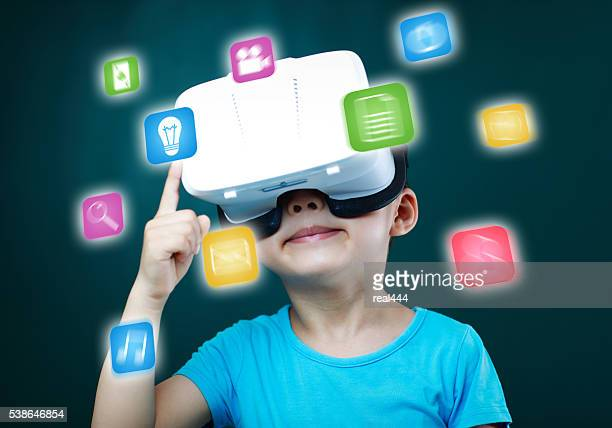 Child Using Virtual Reality Headset
