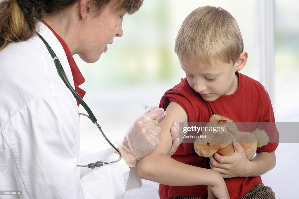 Child vaccination : Stockfoto