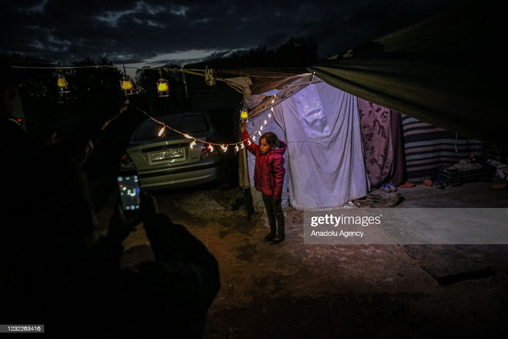 Ahead of Ramadan at Idlib refugee camps : News Photo