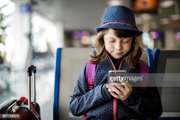 Child waiting for a flight