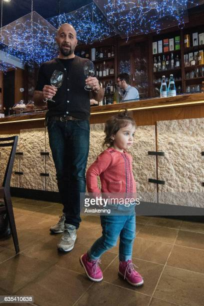 Child walks around in the Antonio Ferrari restaurant on February 15, 2017 in Padova, Italy. The restaurant offers a 5% discount off the total food...